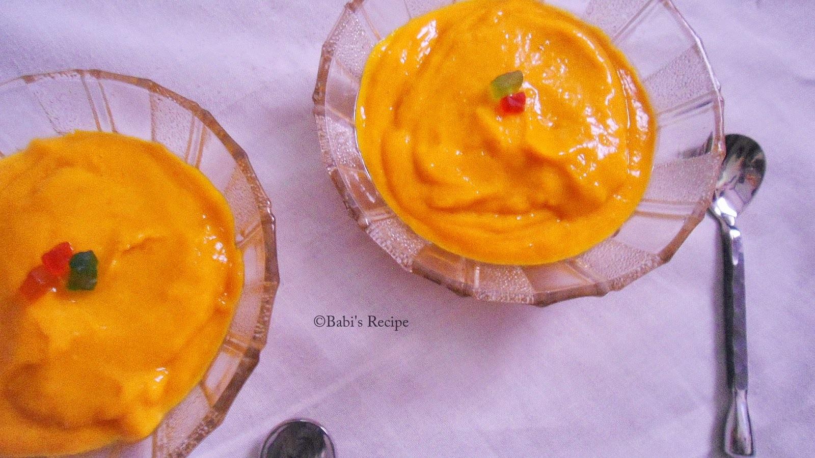 Mango Pudding |  Mango Recipe