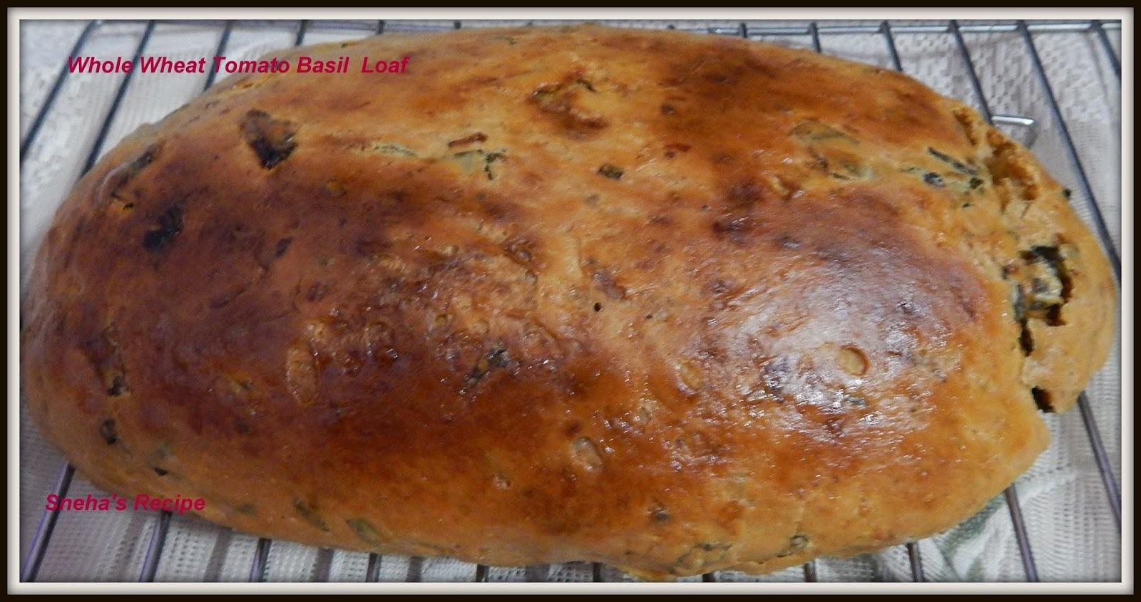 Whole Wheat Tomato Basil Loaf