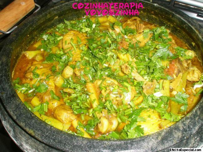 farofa de frango com farinha de milho