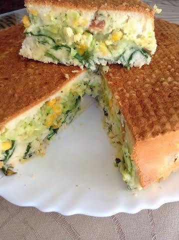 Torta de vegetais sem glúten