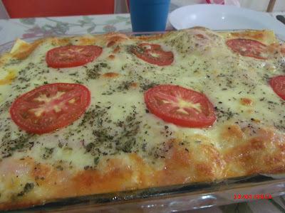 lasanha tradicional de presunto e queijo