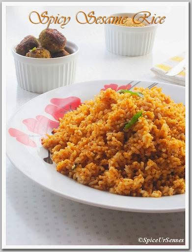 Sesame Rice/ Til Rice/ Ellu Sadam.