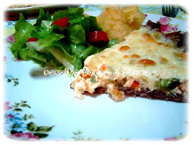 Quiche de carne com legumes / Meat and Vegetables Quiche