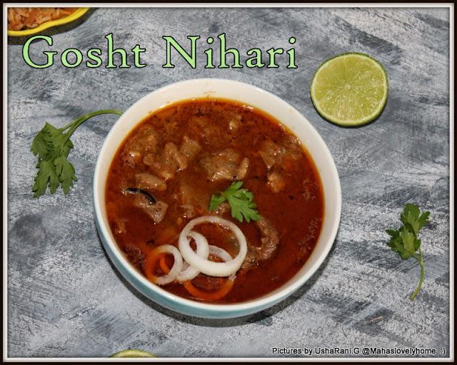 Mutton Nihari | Gosht Nihari | How to Make Mutton Nihari | Lamb Nihari with Step by Step Images | Gosht Curries | Easy Mutton Recipes