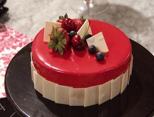 Torta Mousse de Chocolate com Framboesa