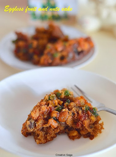 Eggless fruit and nuts christmas cake - easy Christmas cakes recipes