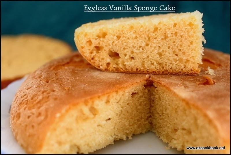 Eggless Basic Vanilla Sponge Cake