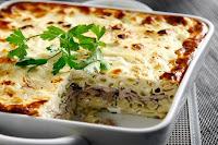 Παστίτσιο με ψαρονέφρι και κρέμα γιαουρτιού