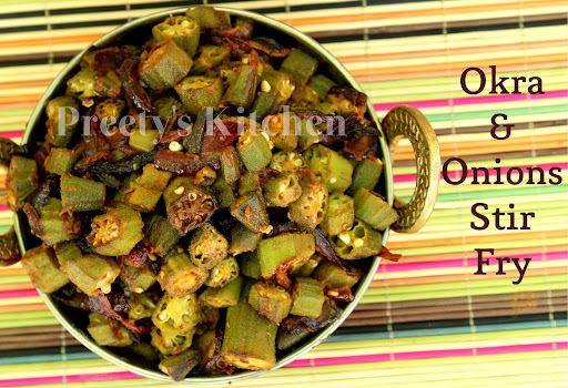 Okra & Onions Stir Fry / Bhindi Aur Pyaz Ki Sabzi / Vegan Recipe
