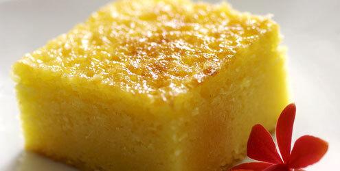 bolo de flocos de milho cremoso