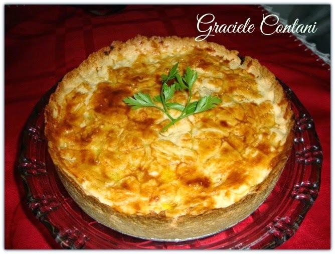 Torta salgada de frango, de Graciele Contani