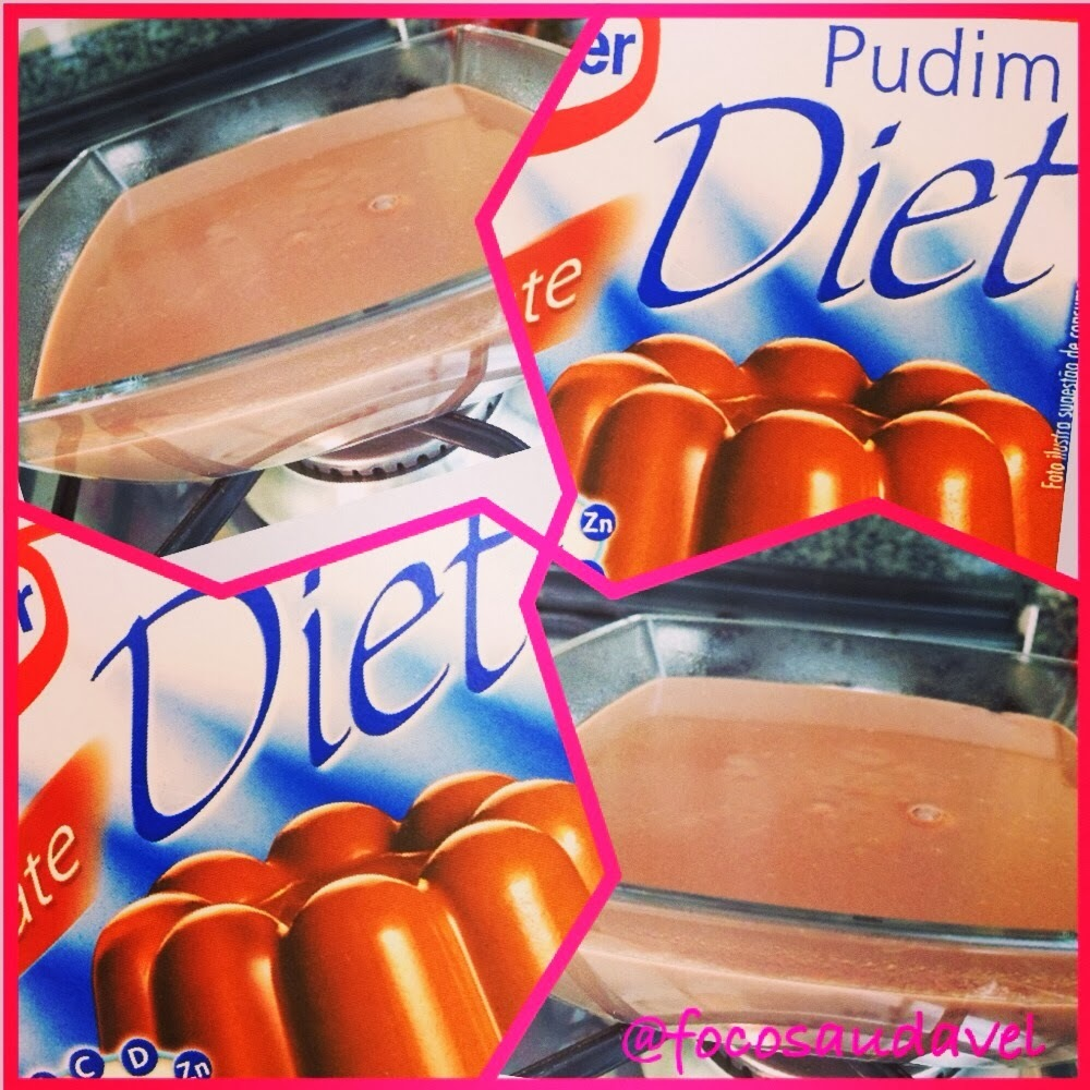 Pudim de chocolate diet!