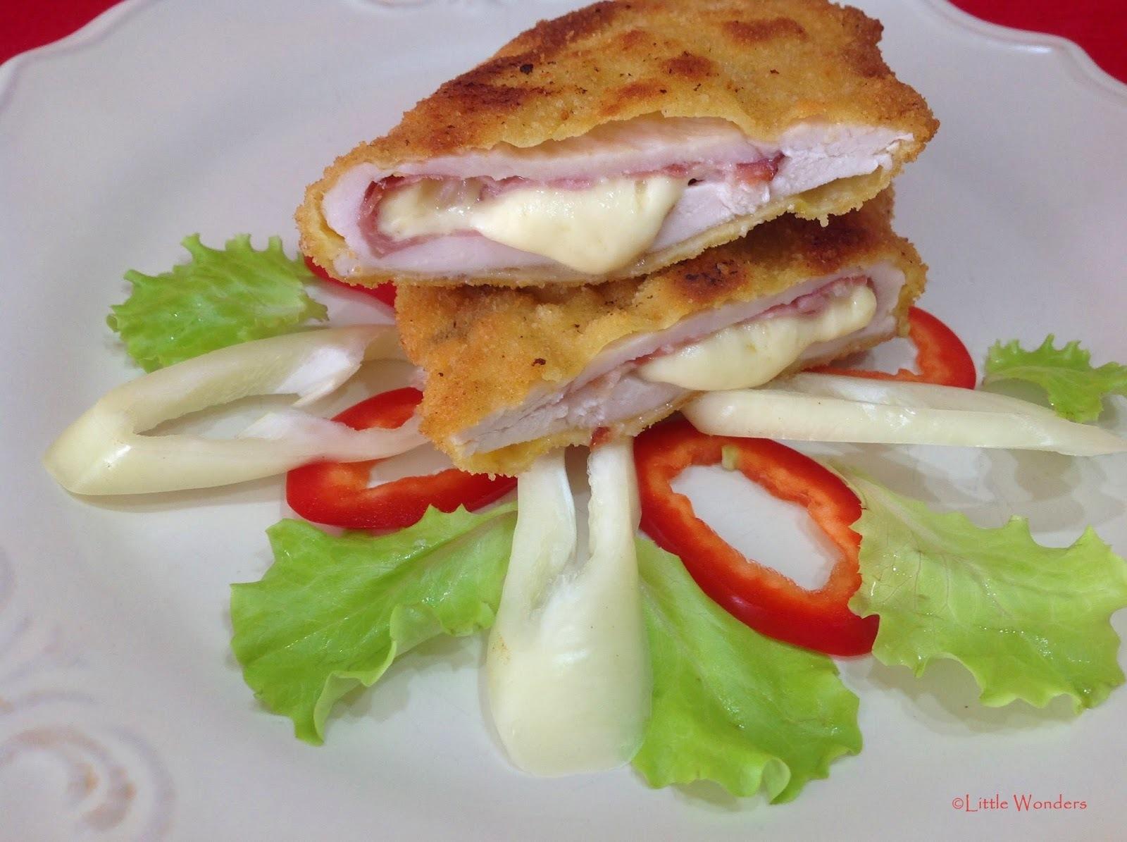 Töltött csirkemell olasz módra- Pollo alla Valdostana