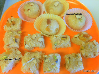 Coconut Barfi/Laddos Recipe