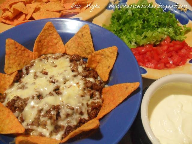 nachos simples com doritos