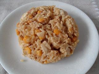 Risoto de frango e milho