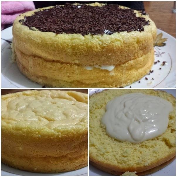 Pão de Ló Diet Leite Condensado Diet com Limão e Ganache com leite sem lactose