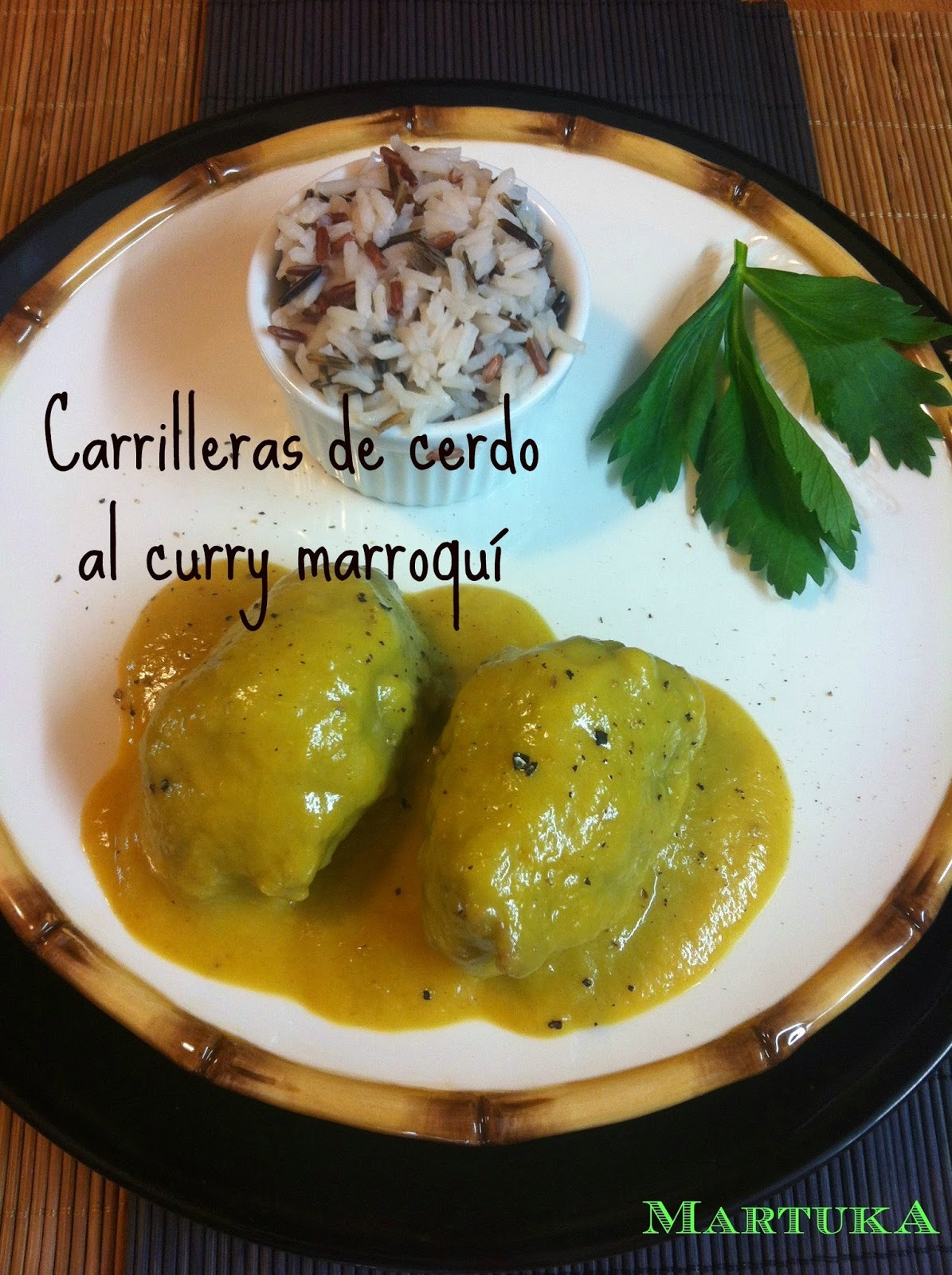 Carrilleras De Cerdo Al Curry Marroquí