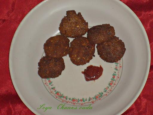 Soya Chunks Vada | Tea Time Snacks