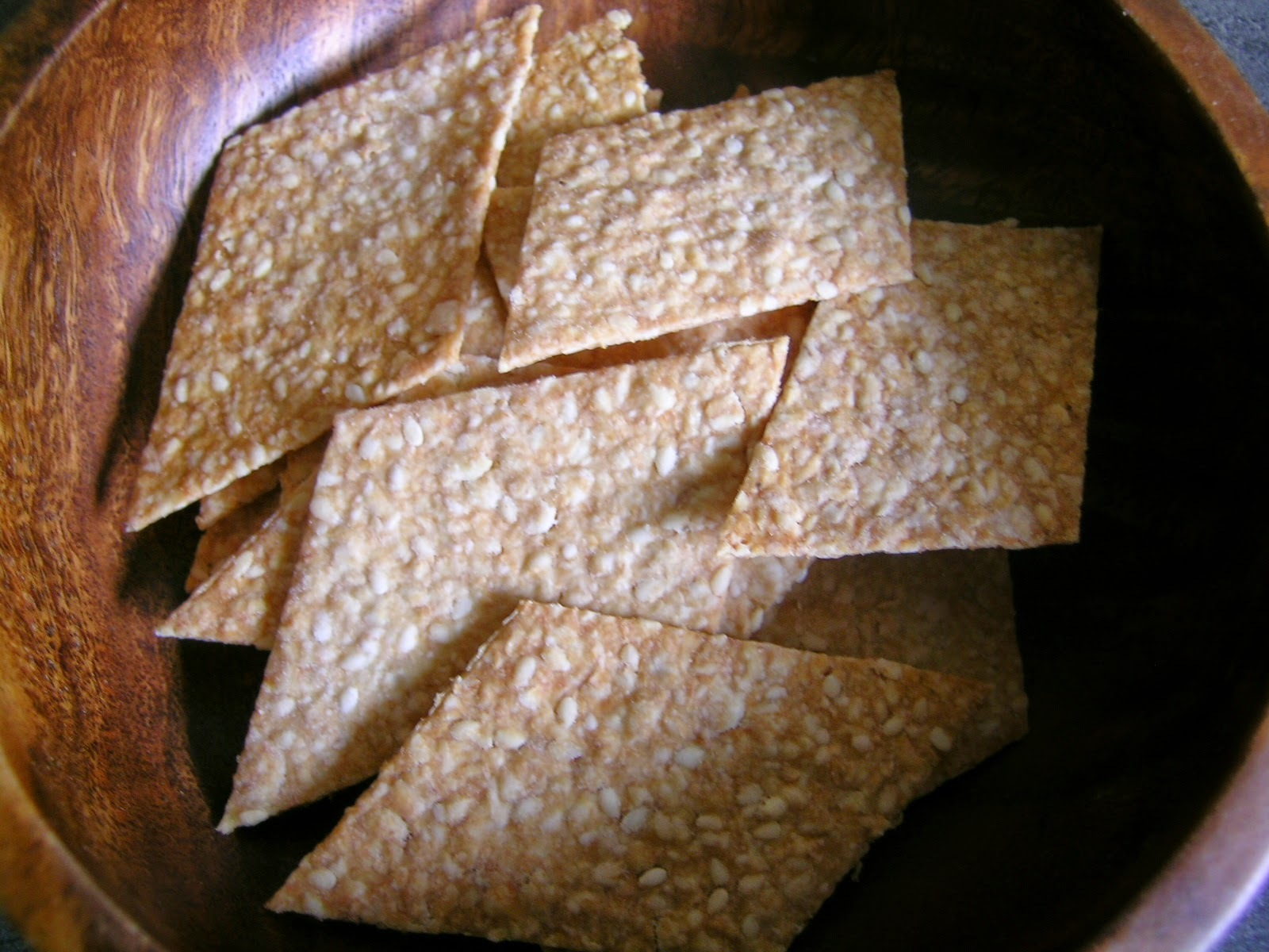 Sesame Oat Crackers