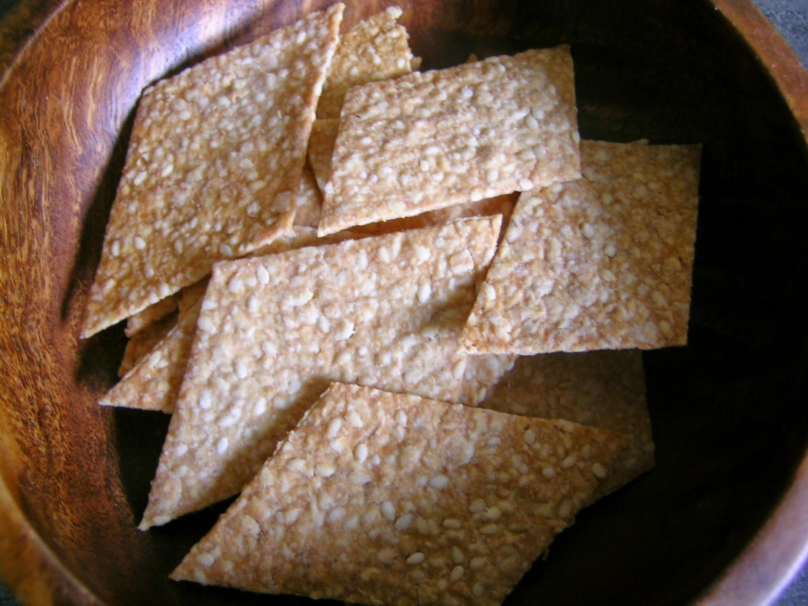 Sesame Oat Crackers