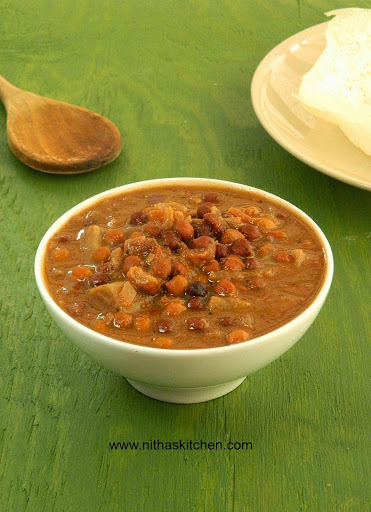 Karuppu Konda Kadalai Kuzhambu | Kala Chana | Kadala Curry Recipe