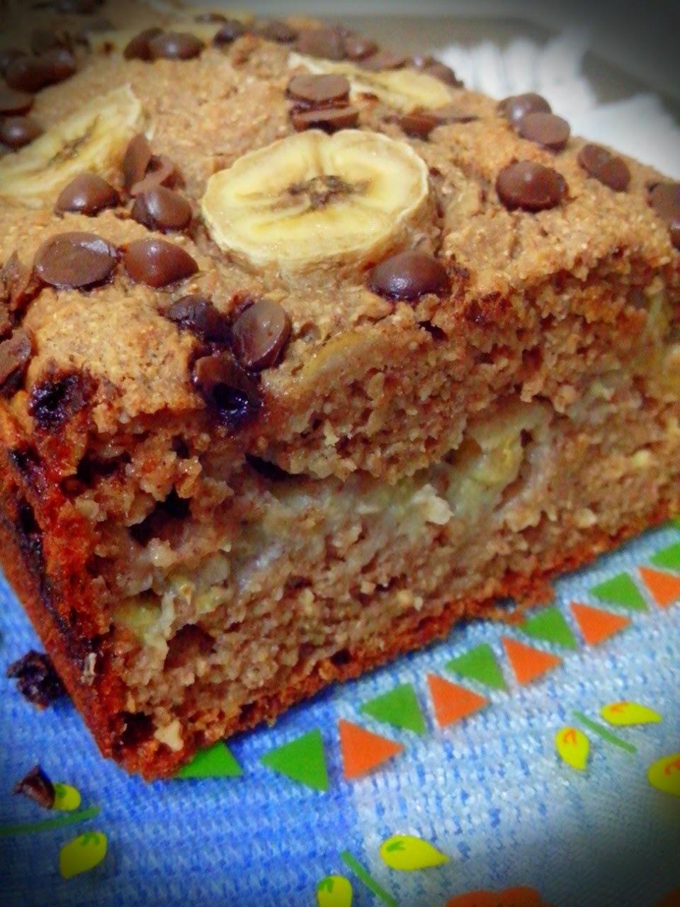 bolo de banana em forma de bolo ingles