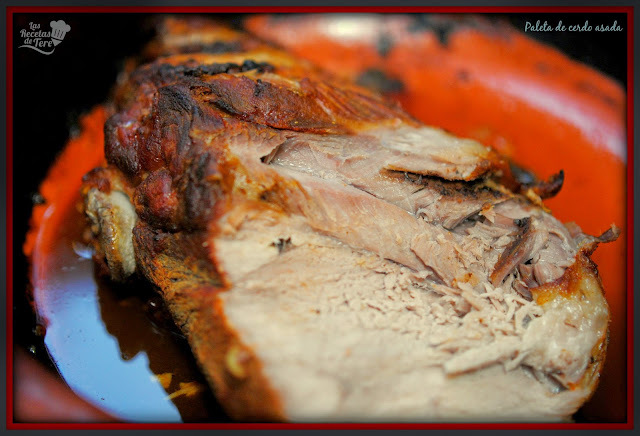 Paleta de cerdo asada al horno.