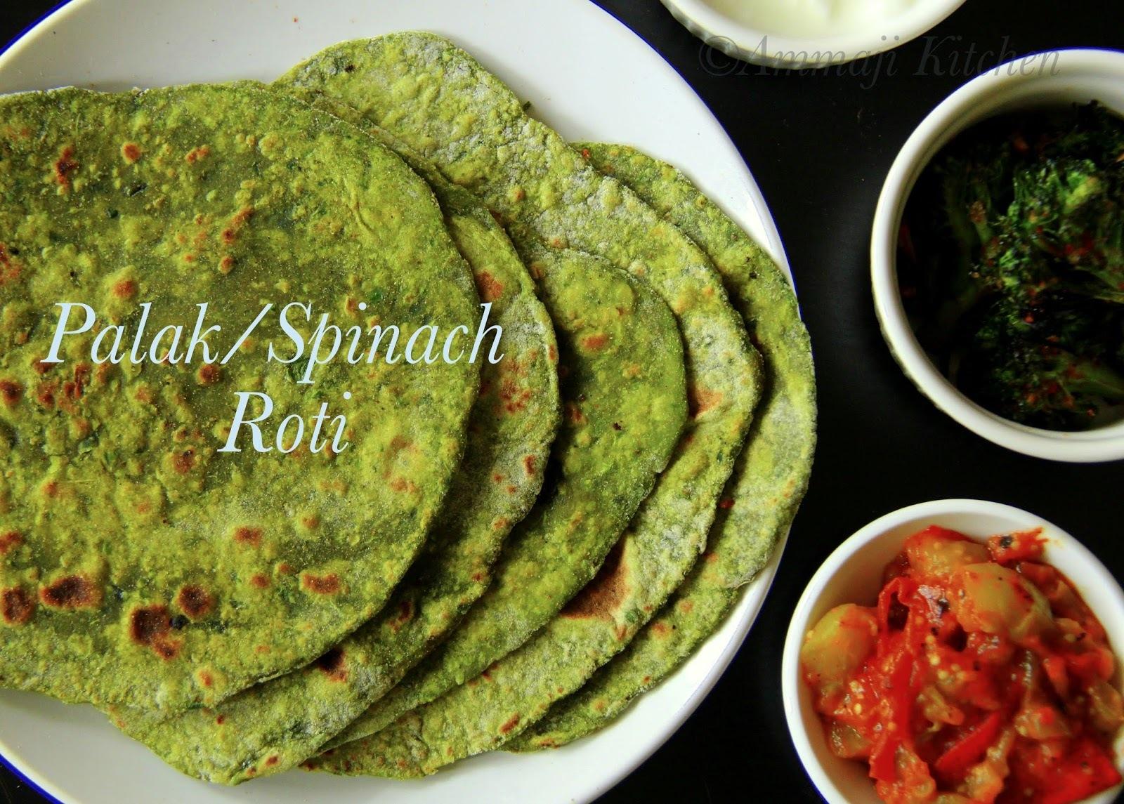 Palak Roti | Spinach Roti