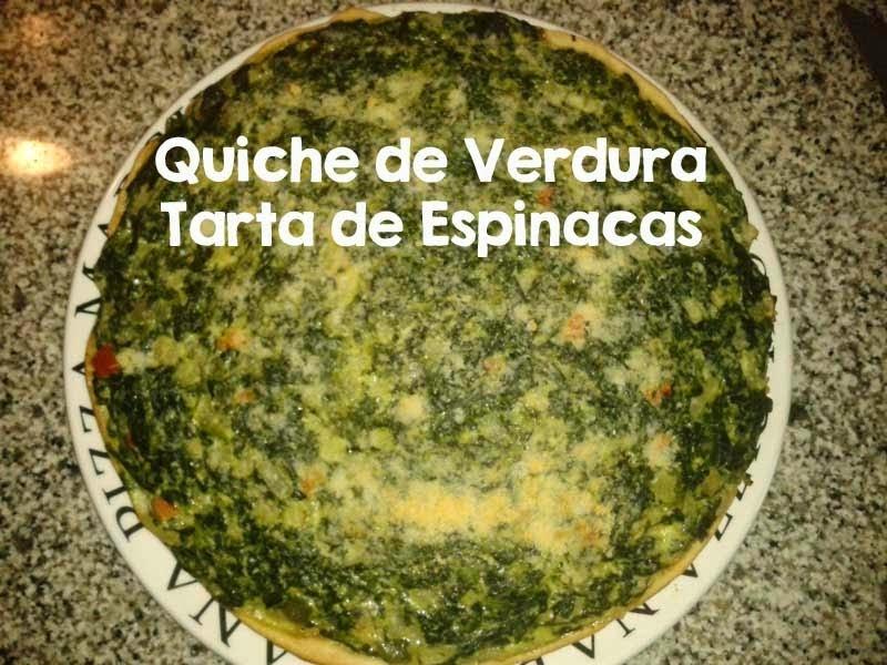 Receta de Quiche de Verdura • Tarta de Espinacas y Queso