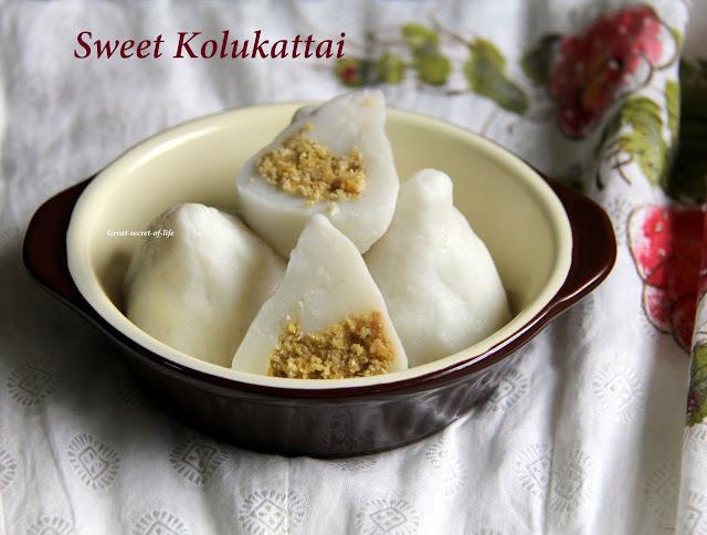 Sweet Kozhukattai / kolukattai / sweet dumplings recipe - FOR VINAYAKAR CHATURTI / VARALAKSHMI POOJA / VARALAKSHMI Nombu