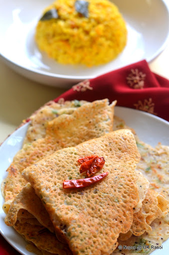 Instant Wheat Dosa - Super easy : no fermentation required