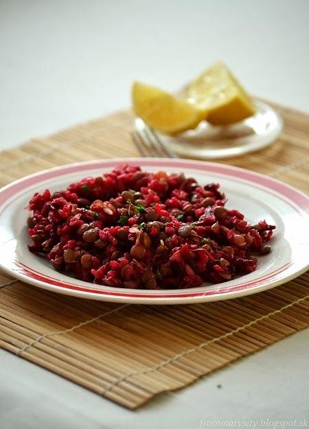 Ryžovo-šošovicovo-cviklový šalát