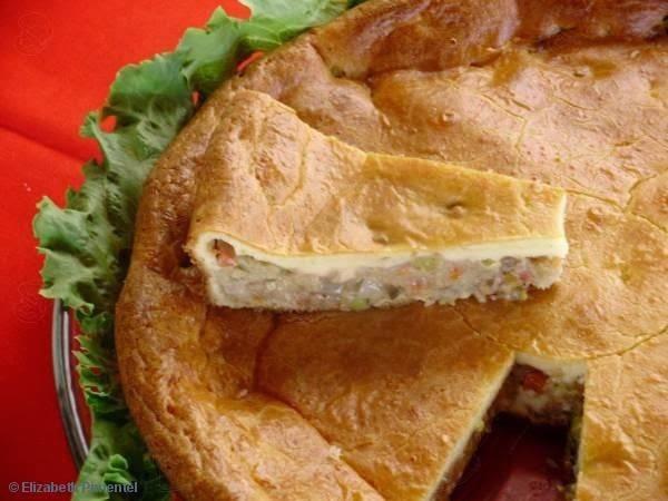 Torta Baiana, sardinha com leite de coco