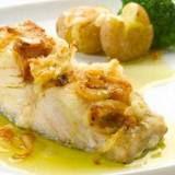bacalhau com pure de batata e leite de coco e batata