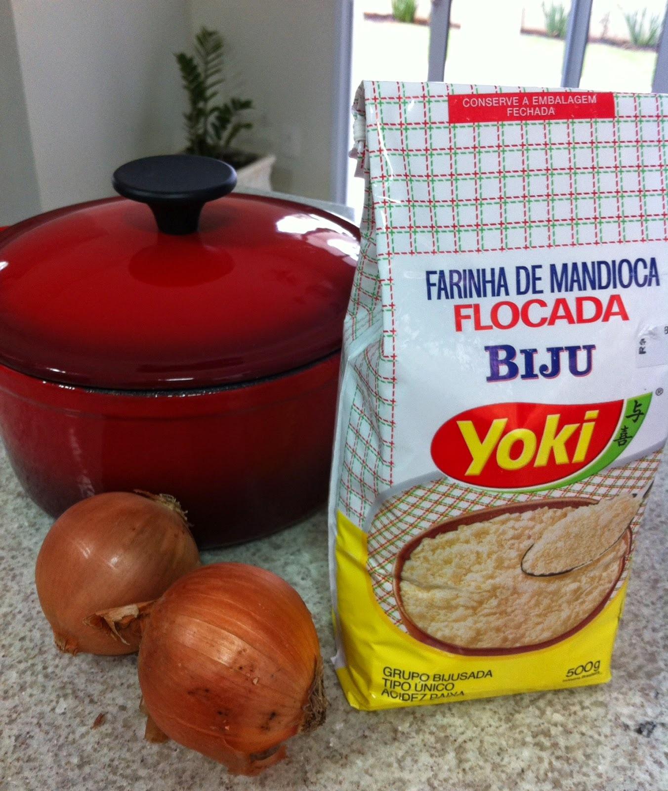 Farofa com Farinha de Mandioca Flocada!!!!