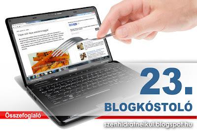 Blogkóstoló 23. - Összefoglaló