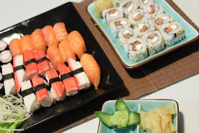 Sushi coletivo e uma grata surpresa
