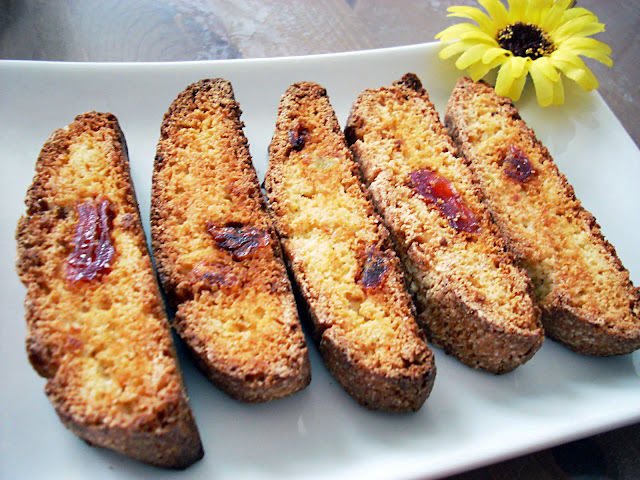 Biscotti de Arroz con Naranja, Jengibre y Papaya