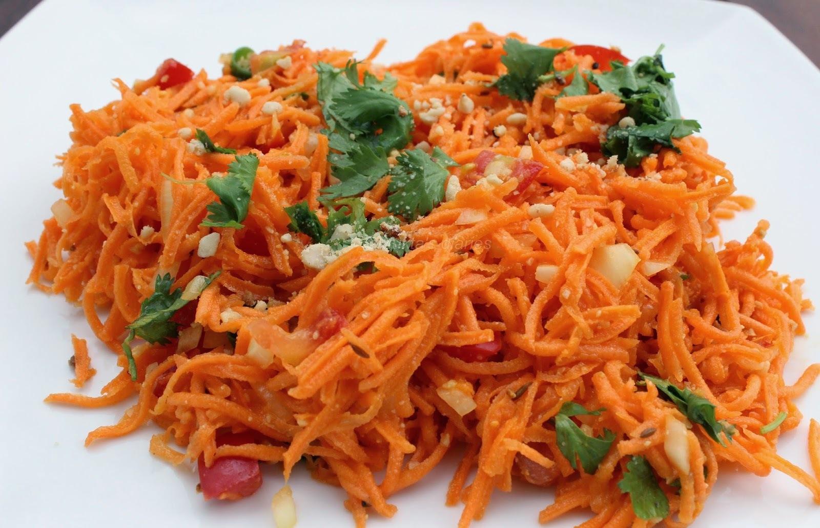 Carrot Salad (Gajarachi koshimbir)