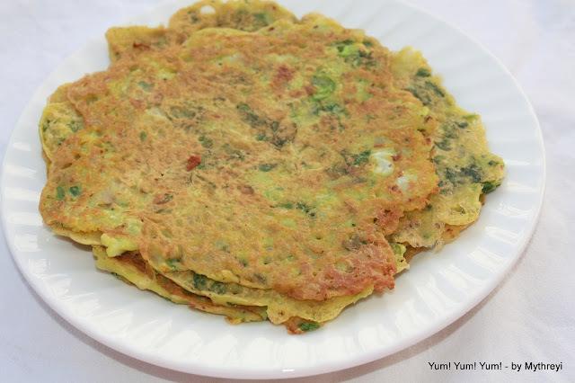 Hara Bhara Chilla ~ Veggie Pancakes (Vegan)