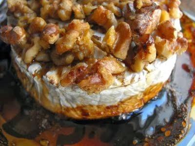 Camembert com Mel e Nozes - receita