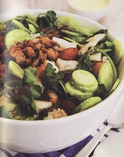 Salada de Maxixe e Pacu Seco