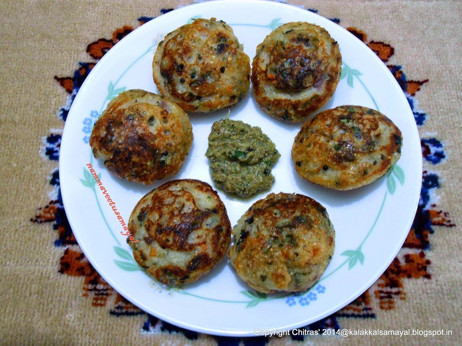 Amaranth-Kuzhi-Paniyaram-with-Venthayakeerai