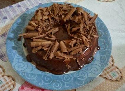 Pudim de Chocolate com Coco