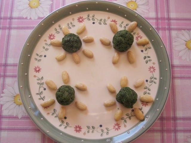 Almôndegas de okara de amêndoas e verdura