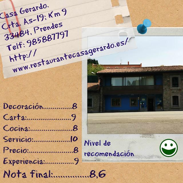 Casa Gerardo {Mucho más que una fabada excelsa}