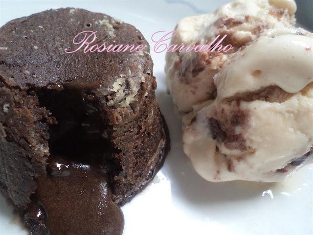 petit gateau de chocolate no microondas sem óleo