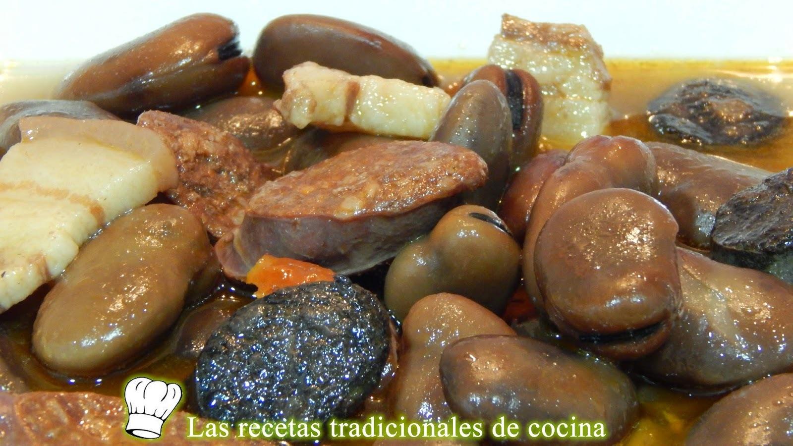 Receta de habas cocidas con chorizo y morcilla