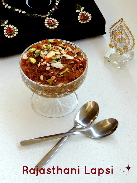 Rajasthani Lapsi/Broken Wheat Pudding